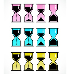 Hour glass icons vector
