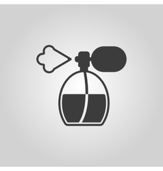 The perfume icon sprayer symbol flat vector