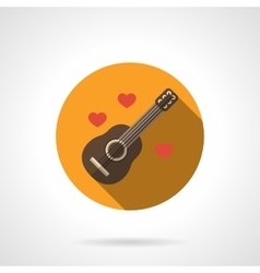Love melody colorful round flat icon vector
