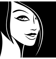 Pretty woman portrait vector