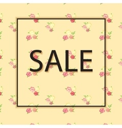 Floral background with text sale vector