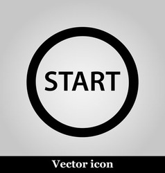 Start icon on grey background vector