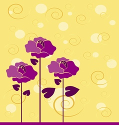 Flowers with flourishes vector