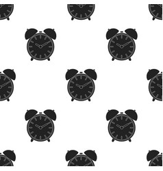 Alarm clock icon in black style isolated on white vector