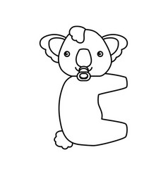Baby koala cartoon animal vector