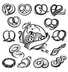 bavarian pretzels vector image vector image