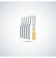 beer glass bottle design background vector image vector image