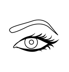 Black silhouette woman eyes icon vector