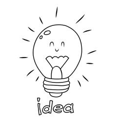 Bulb idea doodle vector