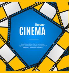 Cinema movie film stripe or reel background vector