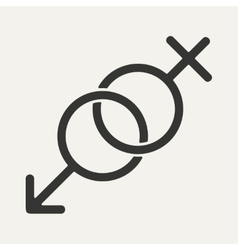 Flat in black and white mobile application sex vector