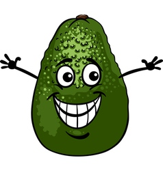 funny avocado fruit cartoon vector image vector image