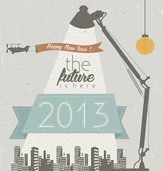 Future cityscape vector image
