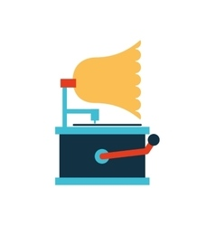 gramophone retro player icon vector image vector image