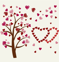 Hearts tree romantic tree vector