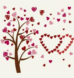 hearts tree Romantic tree vector image