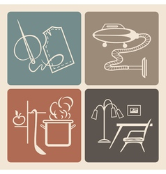 Household icons vector
