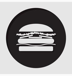 information icon - hamburger vector image