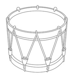 Isolated drum outline vector