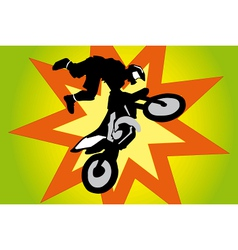 Jumping motorbike vector image