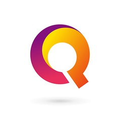 Letter Q logo icon design template elements vector image