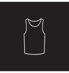 Male singlet sketch icon vector image