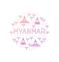 Myanmar country travel identity vector image