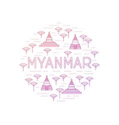 Myanmar country travel identity vector