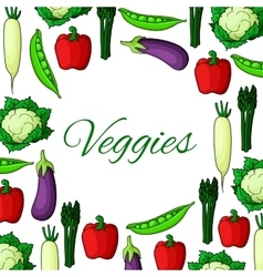 Natural vegan natural vegetable food poster vector