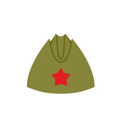 Retro military forage-cap russian soldiers vector