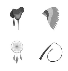 saddle indian mohawk whip dream catcherwild vector image vector image