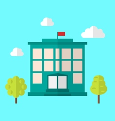 School building cityscape vector