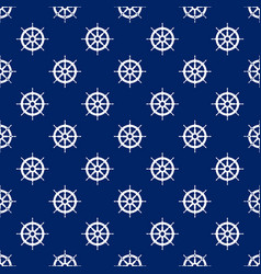 Seamless travel pattern with boats wheel vector