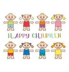 Set of children boys and girls vector
