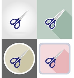 stationery flat icons 16 vector image vector image
