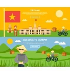Vietnam banner set vector