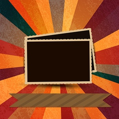 Vintage photo frames 2 vector image