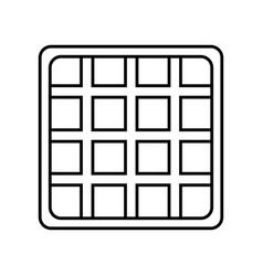 Waffles icon image vector