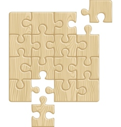 Wooden puzzle pattern vector image vector image