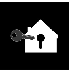 House shape safety lock and keys system security vector