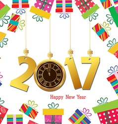 Happy new year 2017 celebration background with vector