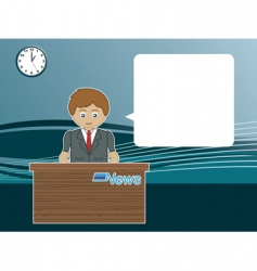 Male news reader vector