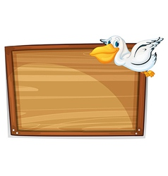 A flying duck and the empty board vector