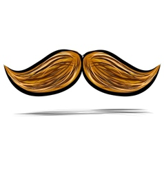 Mustache isolated on white vector