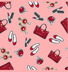 Wallpaper earing ring sack shoes lipstick vector