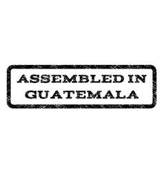 Assembled in guatemala watermark stamp vector