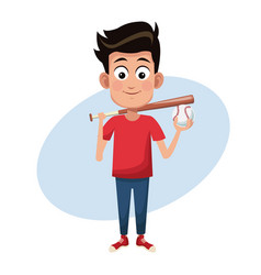 boy sport baseball image vector image