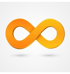 Abstract infinity orange sign vector