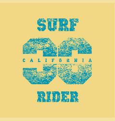 surf rider print fort-shirtt-shirt printing vector image