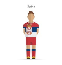 Serbia football player soccer uniform vector